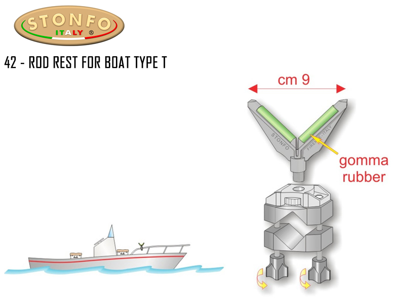 Stonfo 42 - Rod Rest For Boat (Type T)