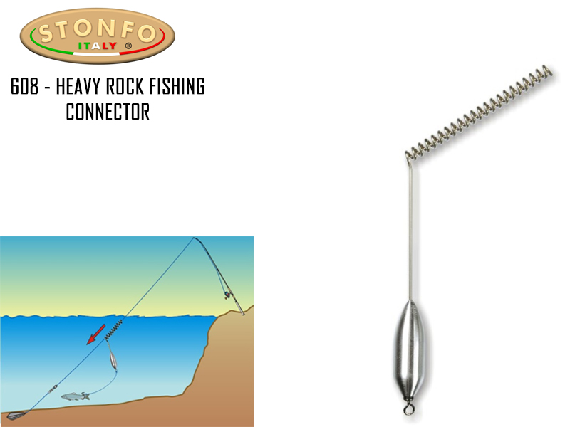 Stonfo Heavy Rock Fishing Connector (Weight: 25gr, Strength: 22kg, Pack: 2)
