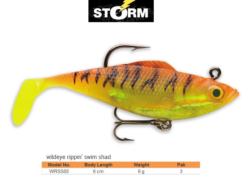 "Shad 3 pack Storm 6/"" WildEye Swim Shad"