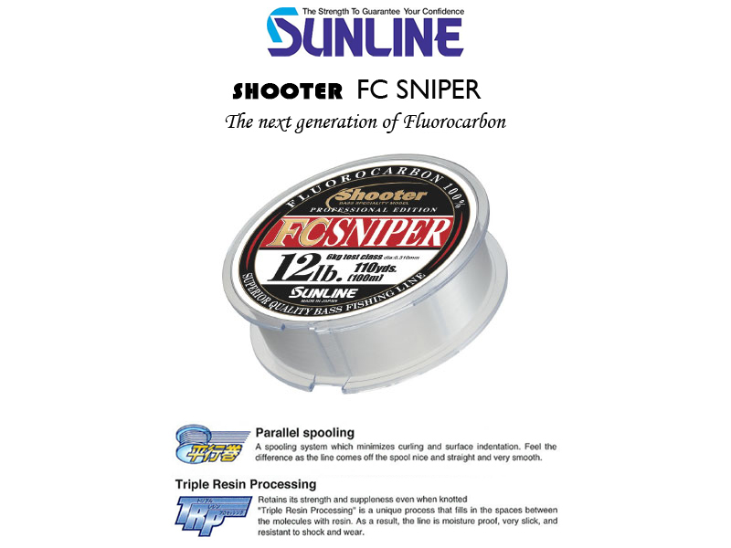 Sunline Shooter FC Sniper (Length: 100mt, Strength: 8lb/4kg, Diameter: 0.265mm)