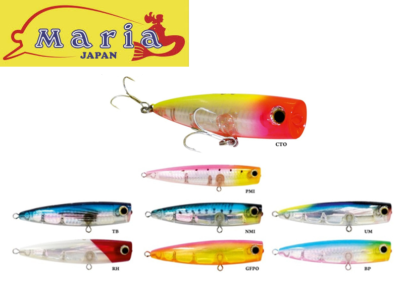 Yamashita Pop Queen Popper (Length: 105mm, Weight: 28g, Colour: PMI)