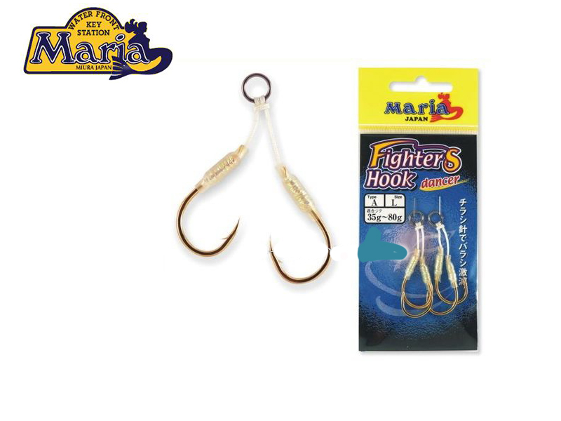 Maria Fighters Hook Dancer ( Type: A, Size: S, Jig: 15g~35g, Pack: 2X2pcs)