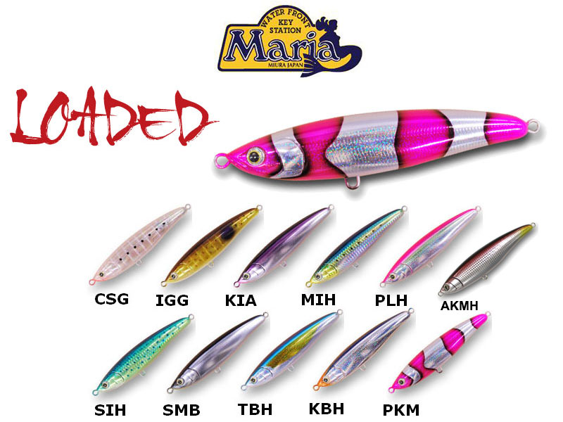 Maria Loaded Lures (Length: 140cm, Weight: 43g, Colour: AKMH)