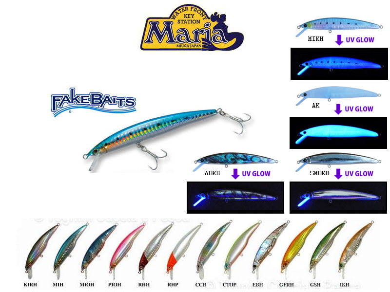 Maria Fake Baits Sinking lures (Length: 90cm, Weight: 14g, Depth:90-180cm, Colour: MIKH)