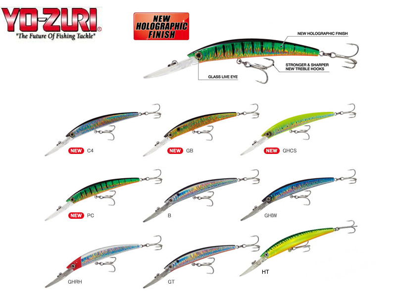 Yo-Zuri Crystal Minnow Deep Diver (Length: 130mm, Weight: 24g, Colour: PC)