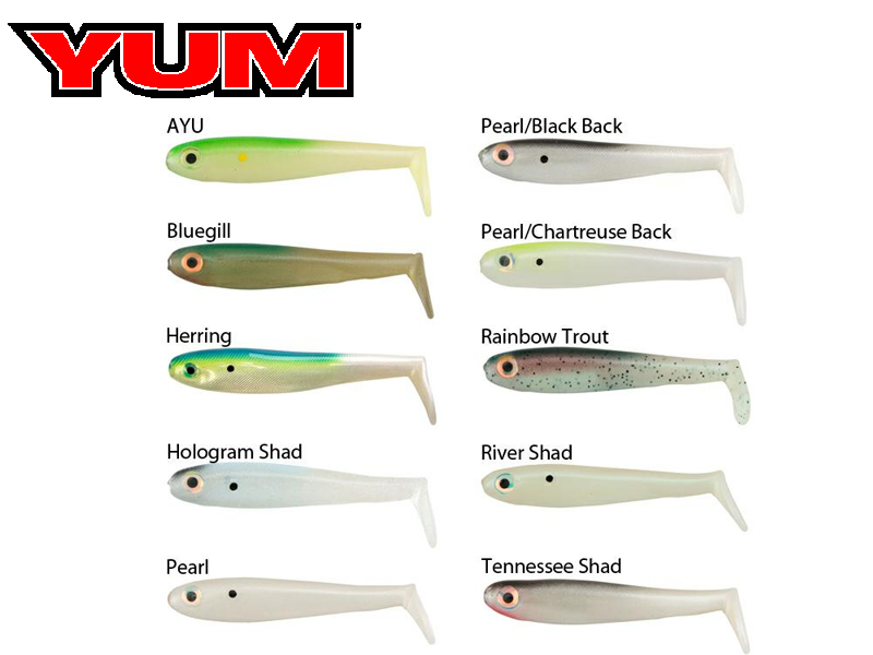 Yum Money Minnow (Length: 3.5 in, Pack: 5, Color: Tennessee Shadl)
