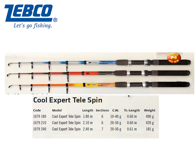 Zebco Cool Expert Tele Spin (1.80m, 10g - 40g)