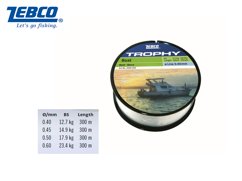 Zebco Topic Boat Lines (Ø: 45, BS: 14.9kg, Length: 300m)