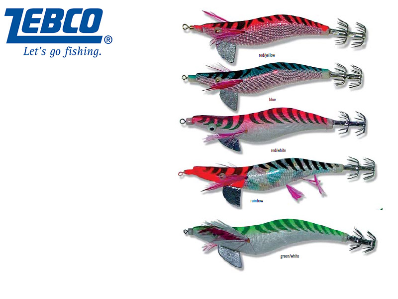 Zebco Squid Lures (Size:2.5g, Color: Rainbow)