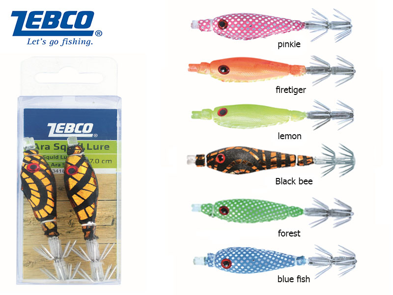 Zebco Ara Squid Lure (Color:Lemon, Length:7cm, Pack:2pcs)
