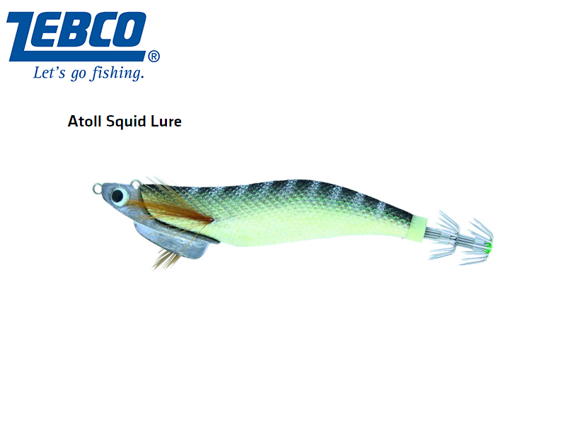 Zebco Atoll Squid Lure(Length: 11cm, Weight: 30g, Color: glow)
