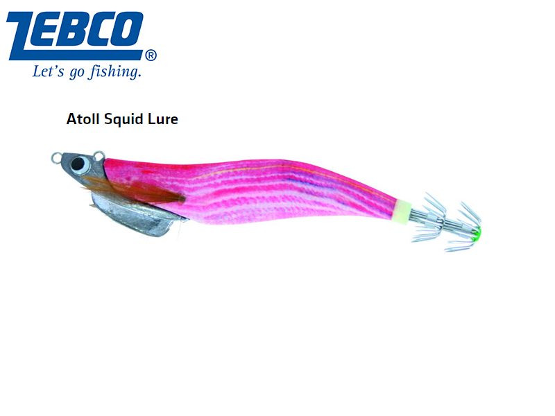 Zebco Atoll Squid Lure(Length: 11cm, Weight: 30g, Color: striped mullet)