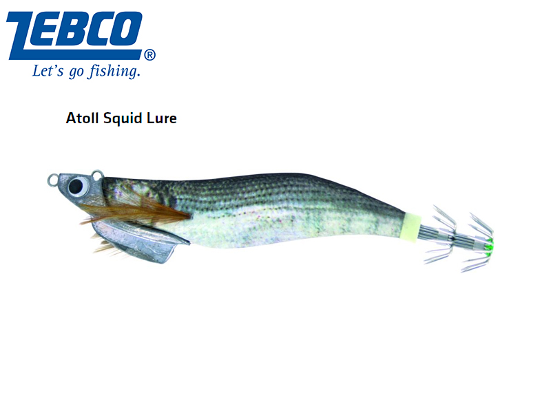 Zebco Atoll Squid Lure(Length: 11cm, Weight: 30g, Color: anchovis)
