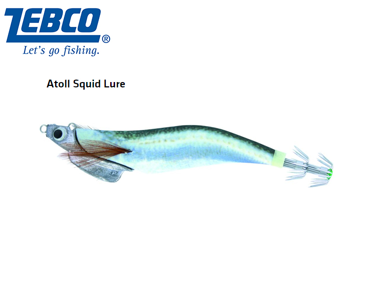 Zebco Atoll Squid Lure(Length: 11cm, Weight: 30g, Color: blue fish)