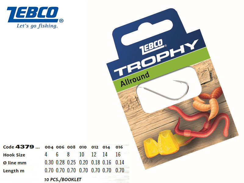Zebco Trophy Allround (#4, Pack: 10)
