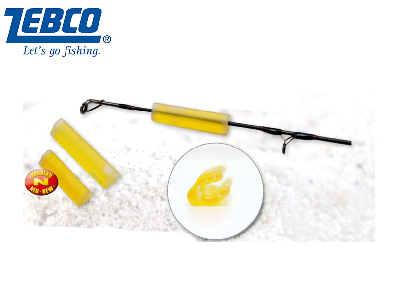 Zebco Snaplight with integrated Rod Adapter (Size:3.5mm, Length: 2-3mm, Color: Yellow, 1pcs)