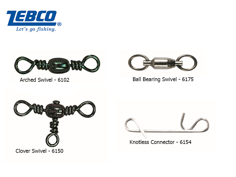 Zebco 6175 Ball Bearing Swivel (#2, BS: 135kg, 3pcs)