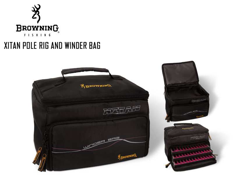 Browning Xitan Pole Rig And Winder Bag Length 28cm Width