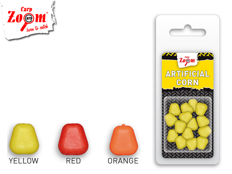 Carp Zoom Artificial Corn (Color: Yellow, Pack: 15pcs)