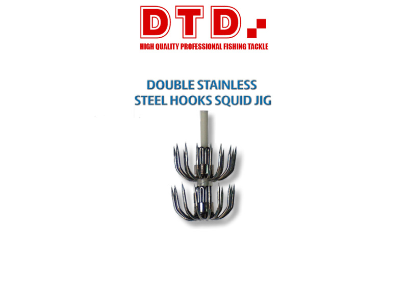 DTD Double Stainless Steel Spare Squid Hook