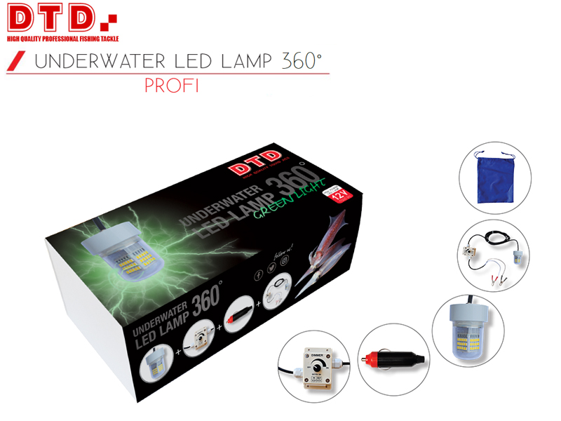 DTD Underwater Led Lamp 360° Green Light