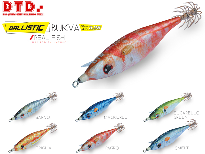 DTD Ballistic Real Fish Bukva ( Size: 3.08, Color: Pagro)