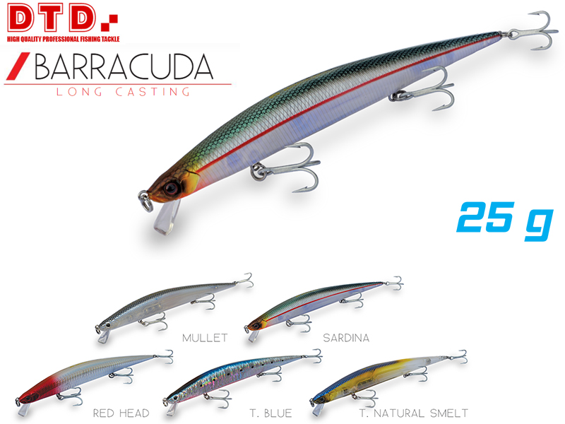 DTD Barracuda (Length: 175mm, Weight: 25gr, Color: Red Head)