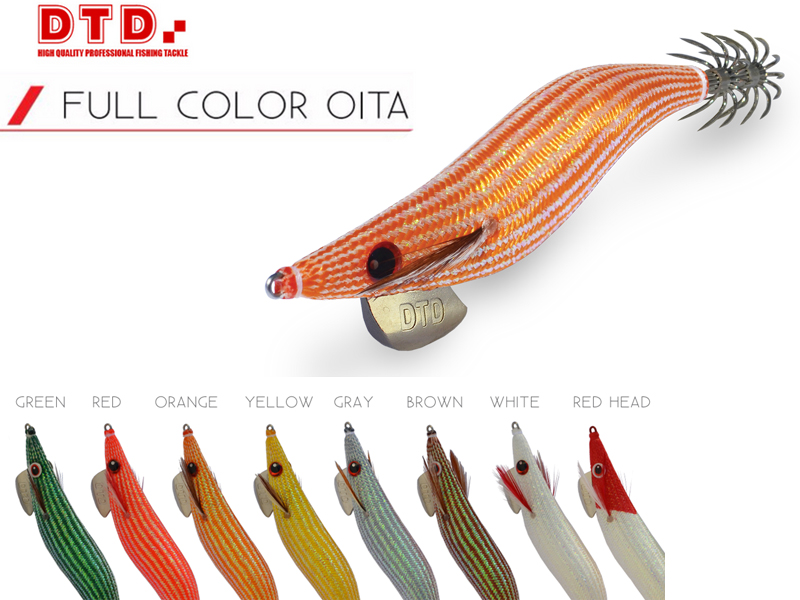 DTD Squid Jig Full Flash Oita (Size: 3.5, Colour: White)