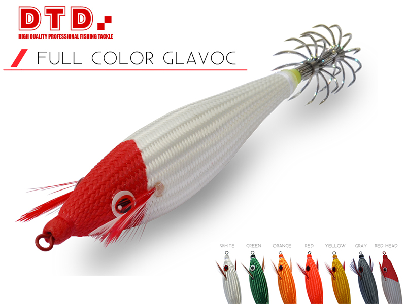 DTD Squid jig FULL COLOR GLAVOC (Size: 1.5, Color: Yellow)