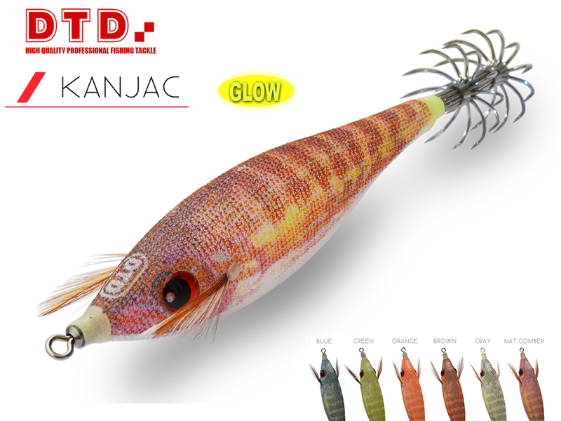 DTD Squid Jig Kanjac (Size:2.0, Colour: Orange)