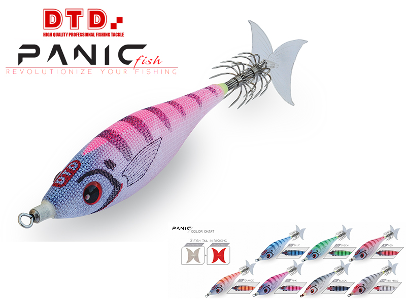 DTD Panic Fish (Size: 2.5, Color: Red Head)