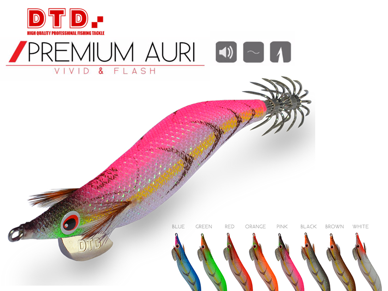 DTD Squid Jig Premium Auri (Size: 3.0, Colour: Red)
