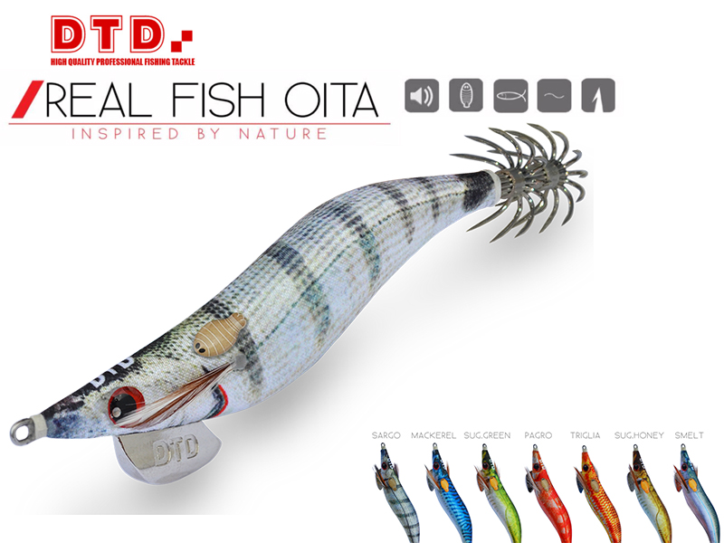 DTD Squid Real Fish Oita (Size:3.0, Color: Triglia)