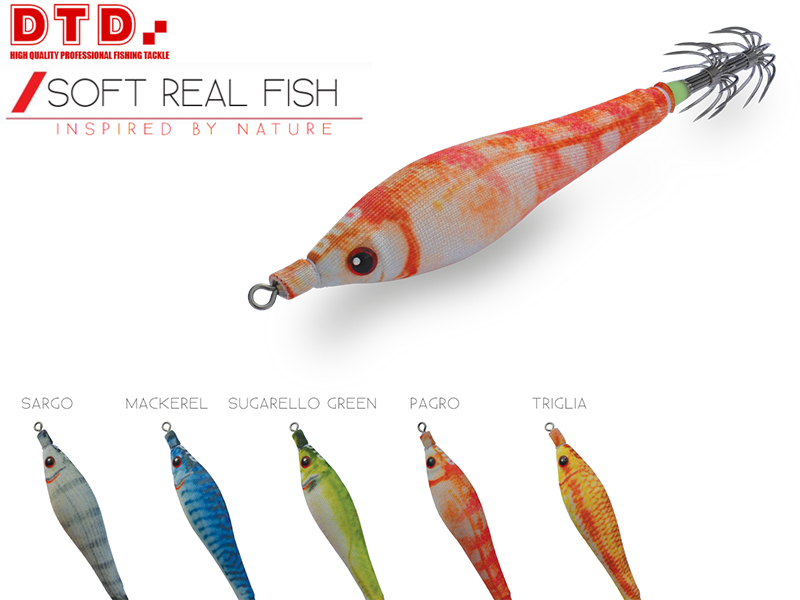 DTD Squid Jig Soft Real Fish (Size: 2.5, Color: Triglia)