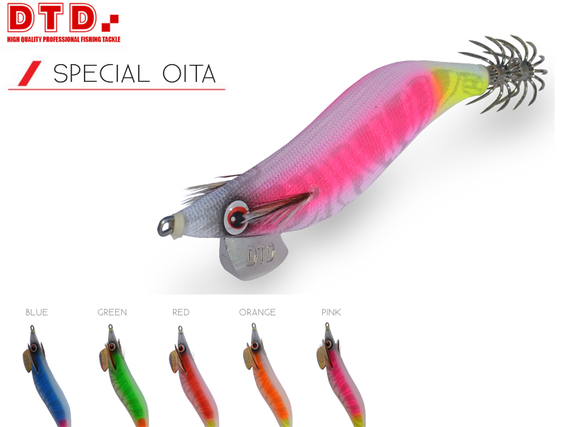 DTD Squid Jig Special Oita (Size: 3.5, Color: Red)