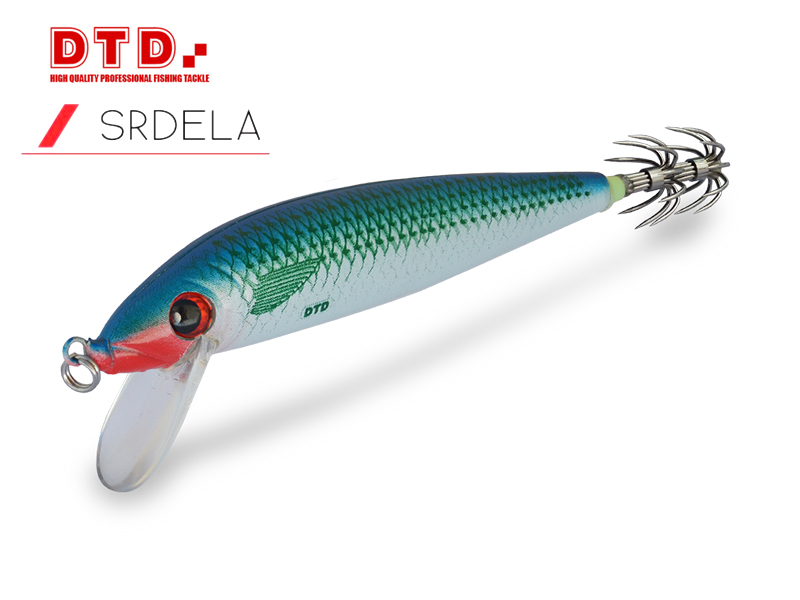 DTD Trolling Squid Jig Srdela (Size:110mm, Colour: Natural Pilchard)