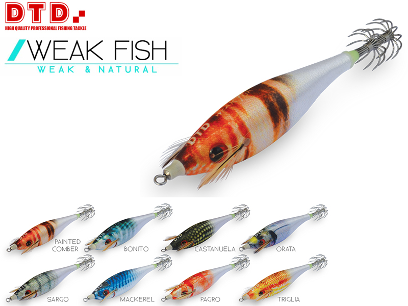DTD Weak Fish Bukva (Size: 2.5, Weight: 9.9gr, Color: Painted Comber)