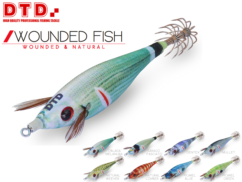 DTD Wounded Fish Bukva (Size:1.5, Color: Natural Weever)