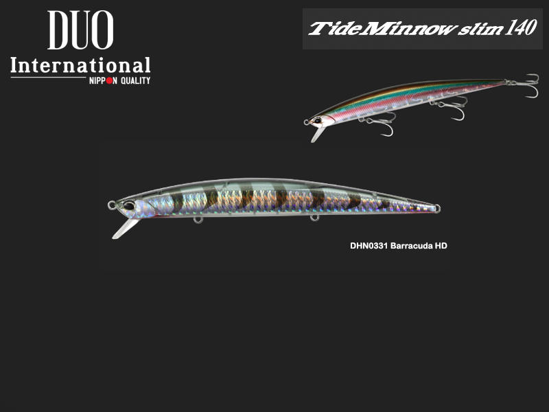 DUO Tide Minnow Slim 140 Lures (Length: 140mm, Weight: 18g, Model: DHN0331 Barracuda HD)