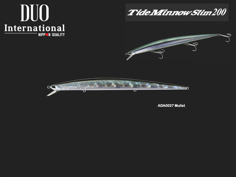 DUO Tide Minnow Slim 200 (Length: 200mm, Weight: 27gr, Color: ADA0027 Mullet)
