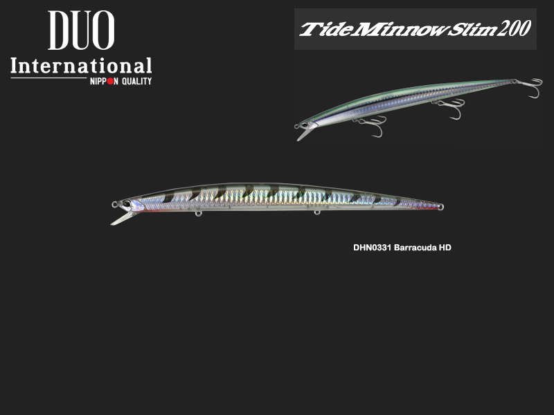 DUO Tide Minnow Slim 200 (Length: 200mm, Weight: 27gr, Color:DHN0331 Barracuda HD)
