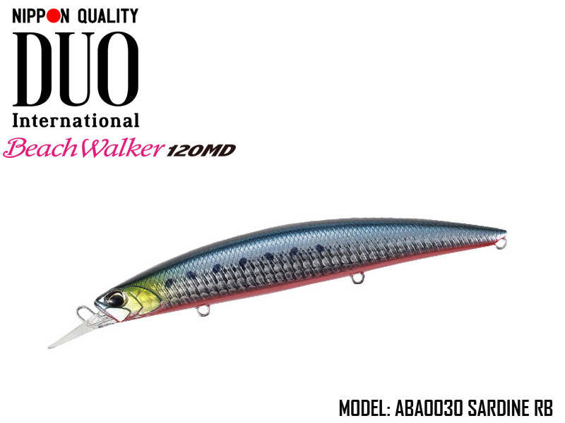 Duo Beach Walker 120 MD (Length: 120mm, Weight: 20g, Model: ABA0030 Sardine RB)