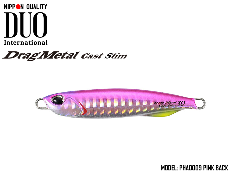 Duo Drag Metal cast Slim (Length: 73mm, Weight: 30gr, Color: PHA0009 Pink Back)