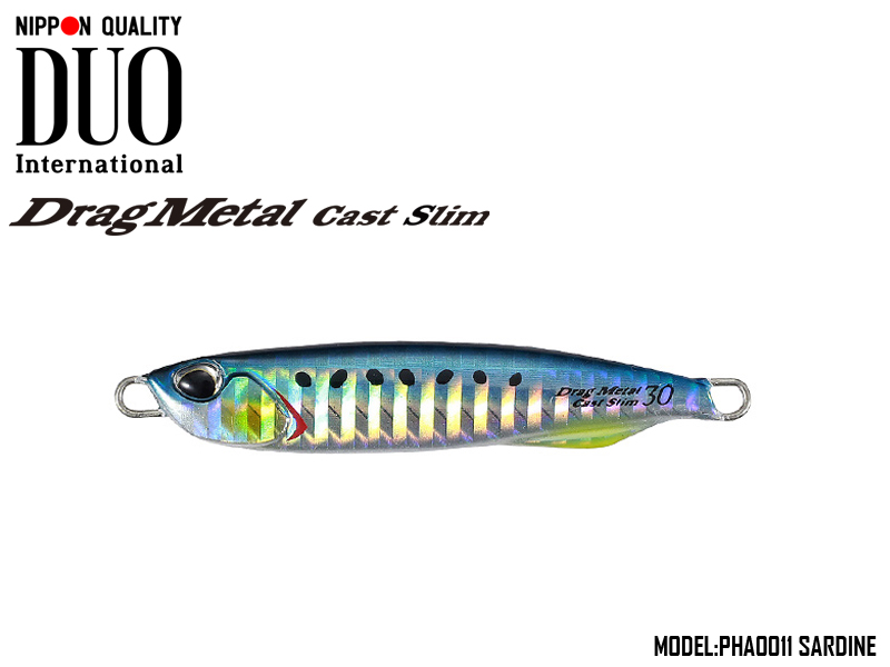 Duo Drag Metal cast Slim (Length: 82mm, Weight: 40gr, Color: PHA0011 Sardine)