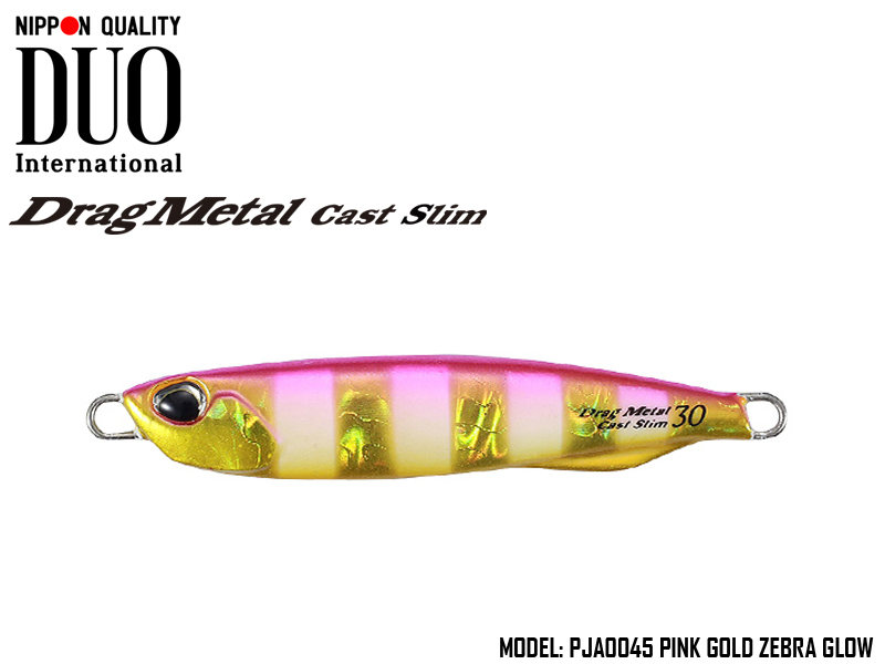 Duo Drag Metal cast Slim (Length: 82mm, Weight: 40gr, Color: PJA0045 Pink Gold Zebra Glow)