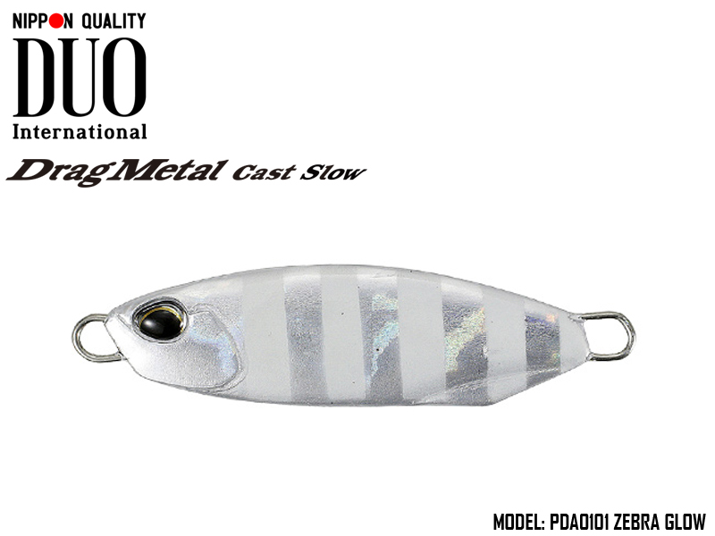 Duo Drag Metal cast Slow (Length: 56mm, Weight: 30gr, Color: PDA0101 Zebra Glow)