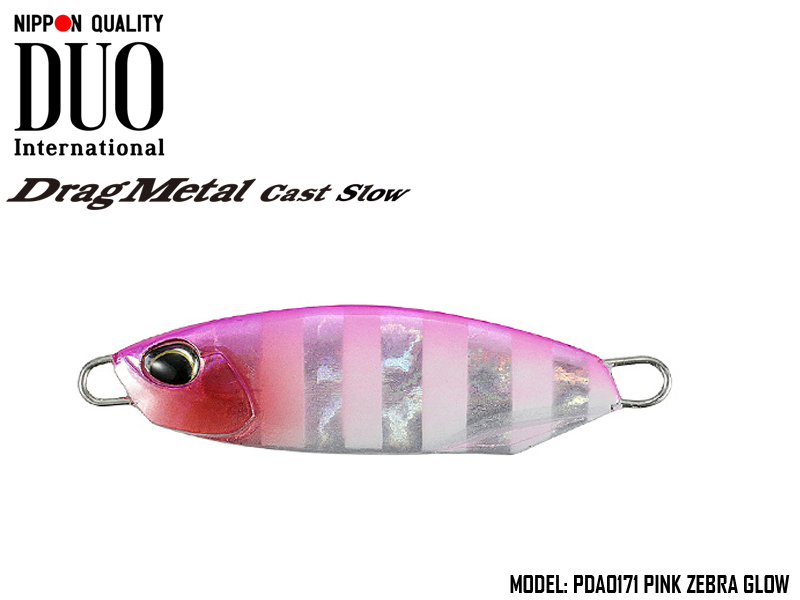 Duo Drag Metal cast Slow (Length: 49mm, Weight: 20gr, Color: PDA0171 Pink Zebra Glow)