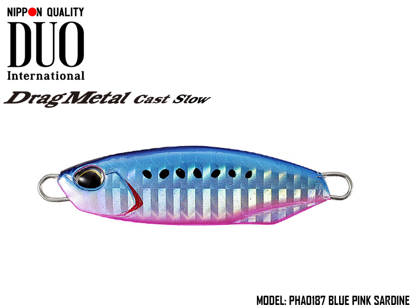 Duo Drag Metal cast Slow (Length: 43.5mm, Weight: 15gr, Color: PHA0187 Blue Pink Sardine)