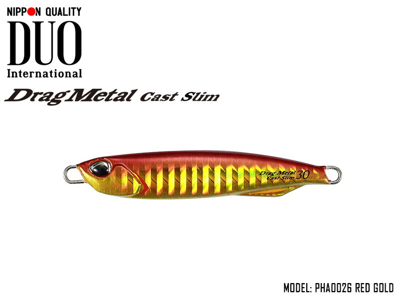 Duo Drag Metal cast Slim (Length: 65mm, Weight: 20gr, Color: PHA0026 Red Gold)