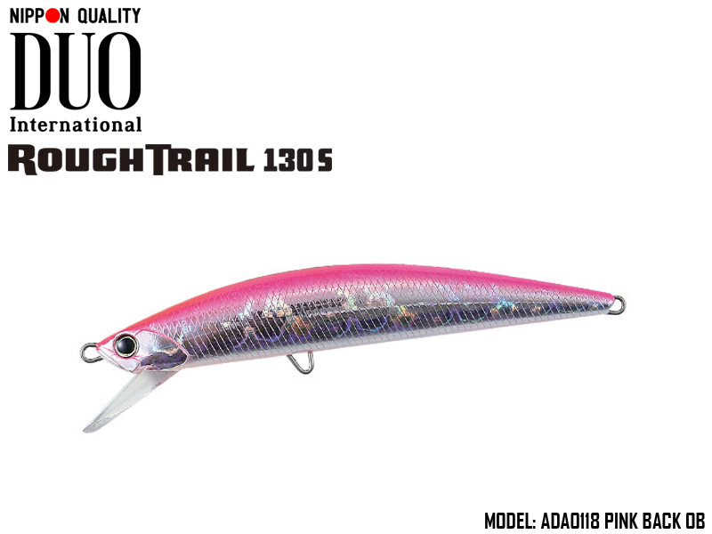 Duo Rough Trail 130S (Length: 130mm, Weight: 29gr, Type: Sinking, Colour: ADA0118 Pink Back OB)